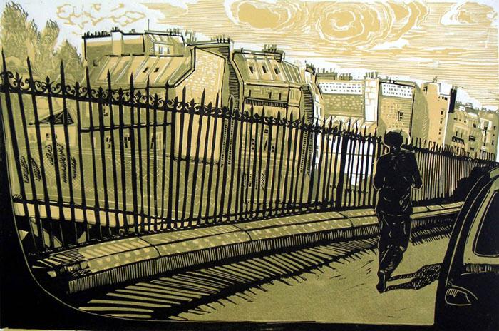 Tous les chemins mènent à la rue de Rome - 80 x 60 cm (feuille) - 2007
