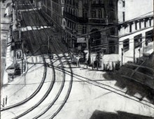 Marseille, vue du panier – Fusain